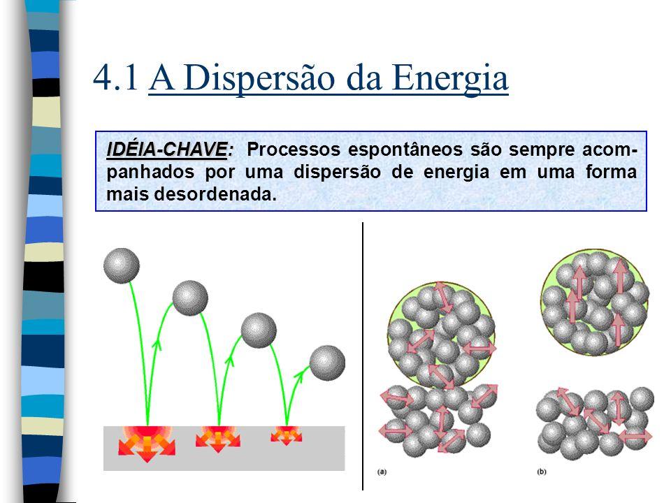 4.6 As Energias de Helmholtz e de Gibbs n Pressão constante: dq p = dH TdS dH Para entalpia constante: dH = 0 dS H,p 0 Para entropia constante: dS = 0 dH S,p 0 n Energia de Helmholtz e de Gibbs: dU – TdS 0 e dH – TdS 0 A = U – TS e G = H – TS