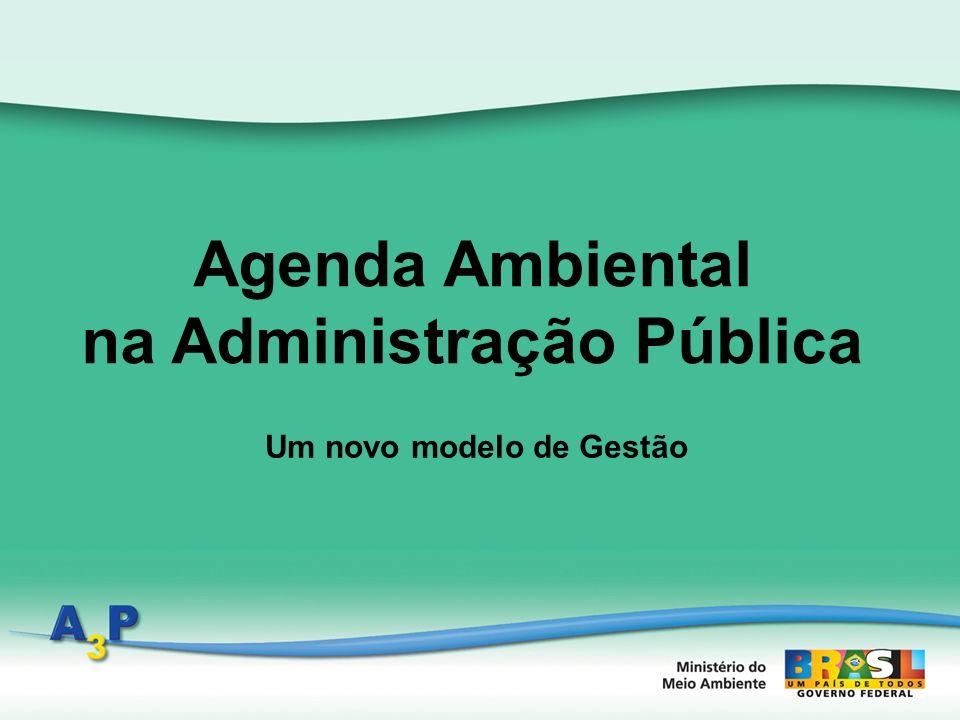 Agenda ambiental na Administração DCRS/SAIC/MMA Um novo modelo de Gestão O que é A 3 P.