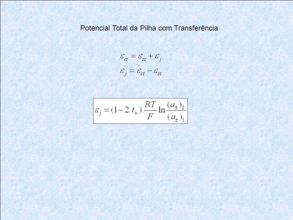Potencial Total da Pilha com Transferência
