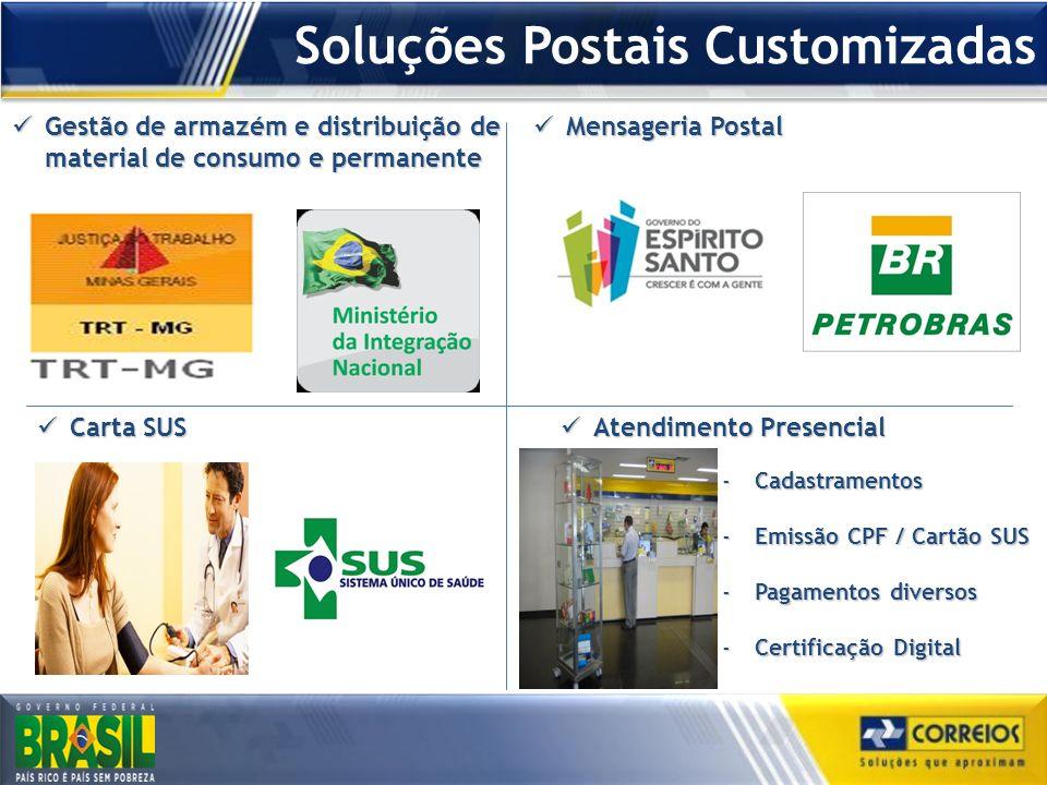 Soluções Postais Customizadas Gestão de armazém e distribuição de material de consumo e permanente Gestão de armazém e distribuição de material de con