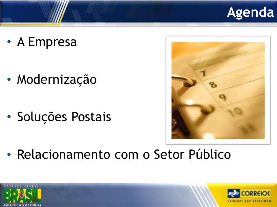 Agenda A Empresa Modernização Soluções Postais Relacionamento com o Setor Público