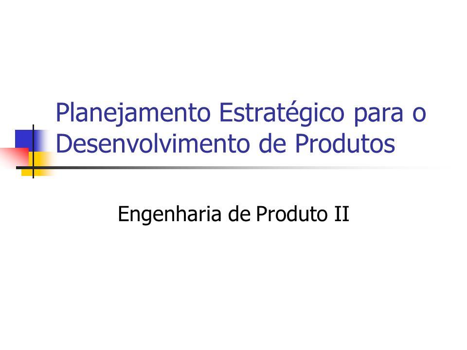 Planejamento Estratégico para o Desenvolvimento de Produtos Engenharia de Produto II