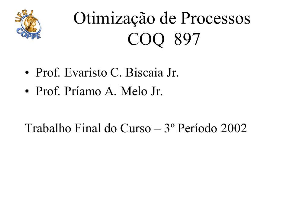 Otimização de Processos COQ 897 Prof. Evaristo C. Biscaia Jr. Prof. Príamo A. Melo Jr. Trabalho Final do Curso – 3º Período 2002