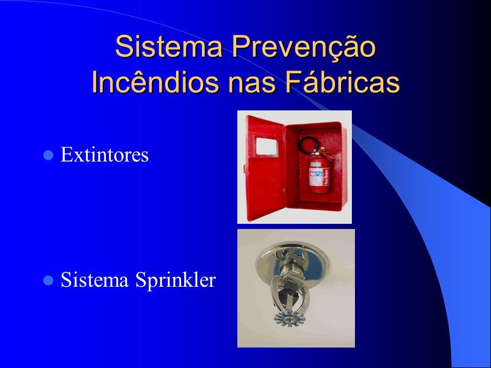 Sistema Prevenção Incêndios nas Fábricas Extintores Sistema Sprinkler