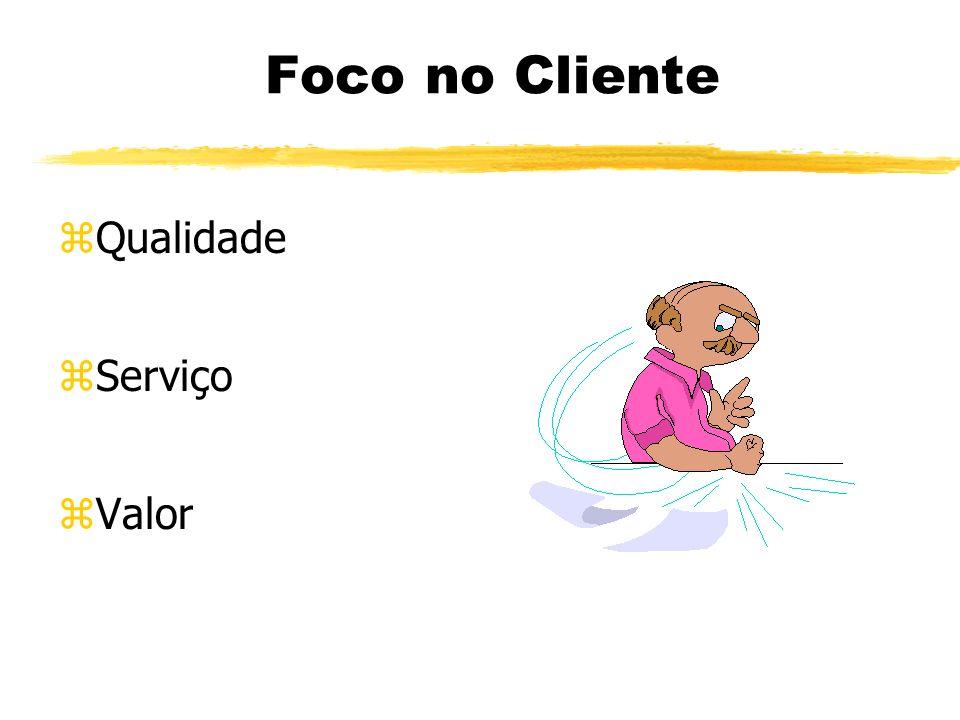 Foco no Cliente zQualidade zServiço zValor