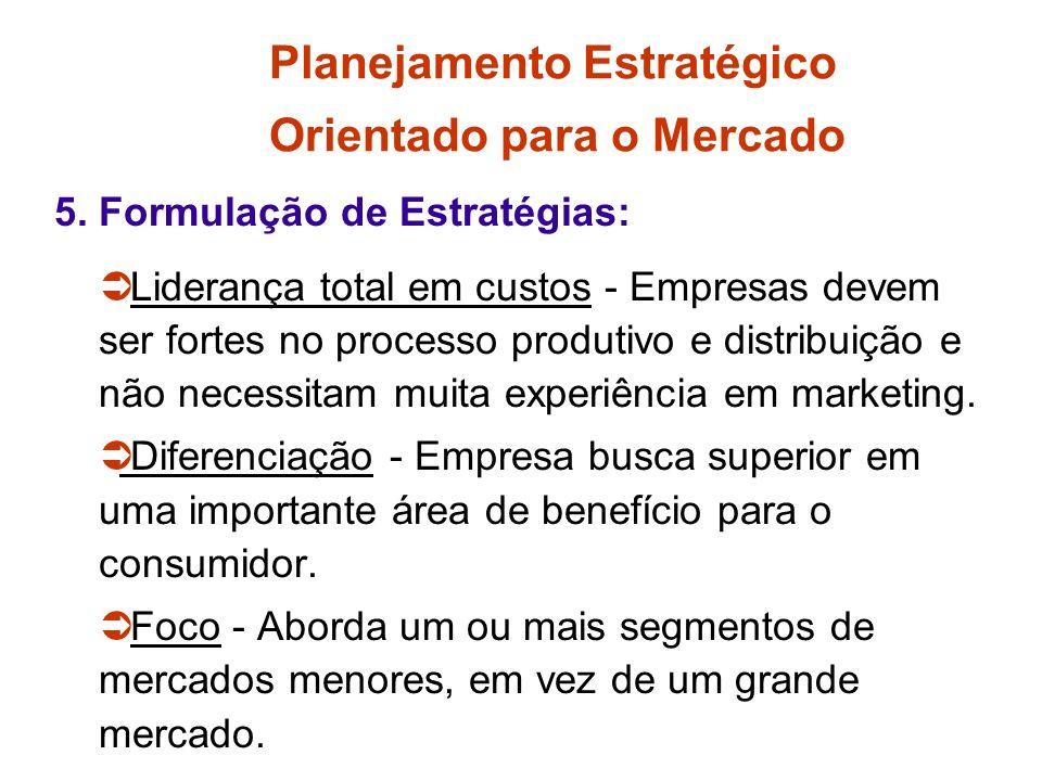 Planejamento Estratégico Orientado para o Mercado 4. Análise do Ambiente Externo: Oportunidades de Marketing: é uma área de necessidade onde a empresa