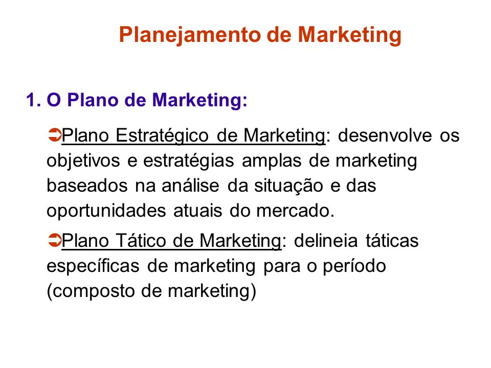 Planejamento de Marketing 1.