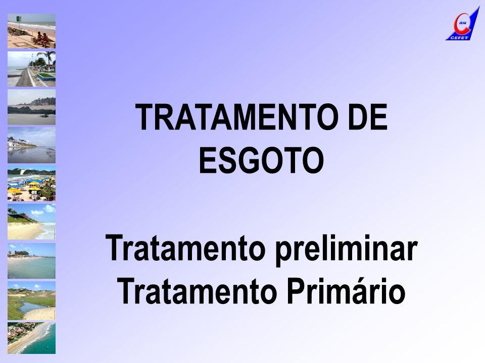 CALHA PARSHALL: MEDIÇÃO DE VAZÃO Tratamento preliminar