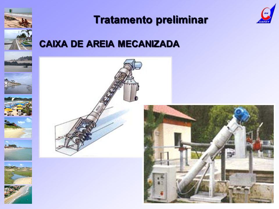 Tratamento preliminar CAIXA DE AREIA MECANIZADA