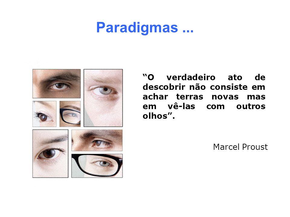 Paradigmas... O verdadeiro ato de descobrir não consiste em achar terras novas mas em vê-las com outros olhos. Marcel Proust