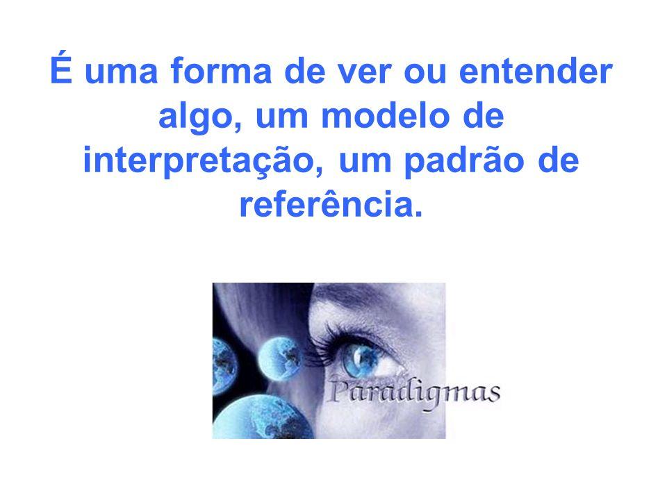 É uma forma de ver ou entender algo, um modelo de interpretação, um padrão de referência.
