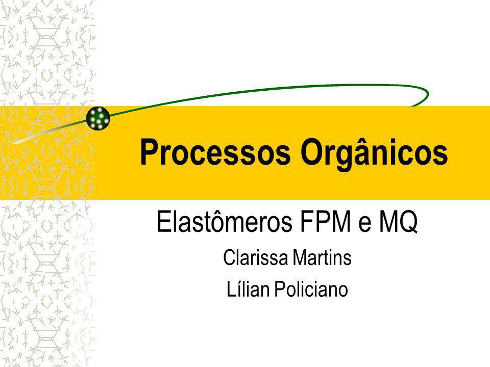 Processos Orgânicos Elastômeros FPM e MQ Clarissa Martins Lílian Policiano