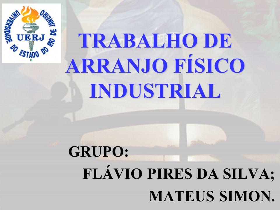 GRUPO: FLÁVIO PIRES DA SILVA; MATEUS SIMON. TRABALHO DE ARRANJO FÍSICO INDUSTRIAL