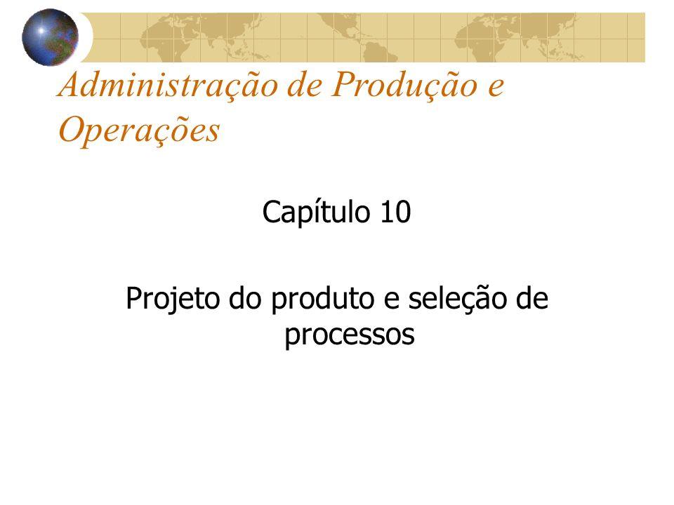 Administração de Produção e Operações Capítulo 10 Projeto do produto e seleção de processos