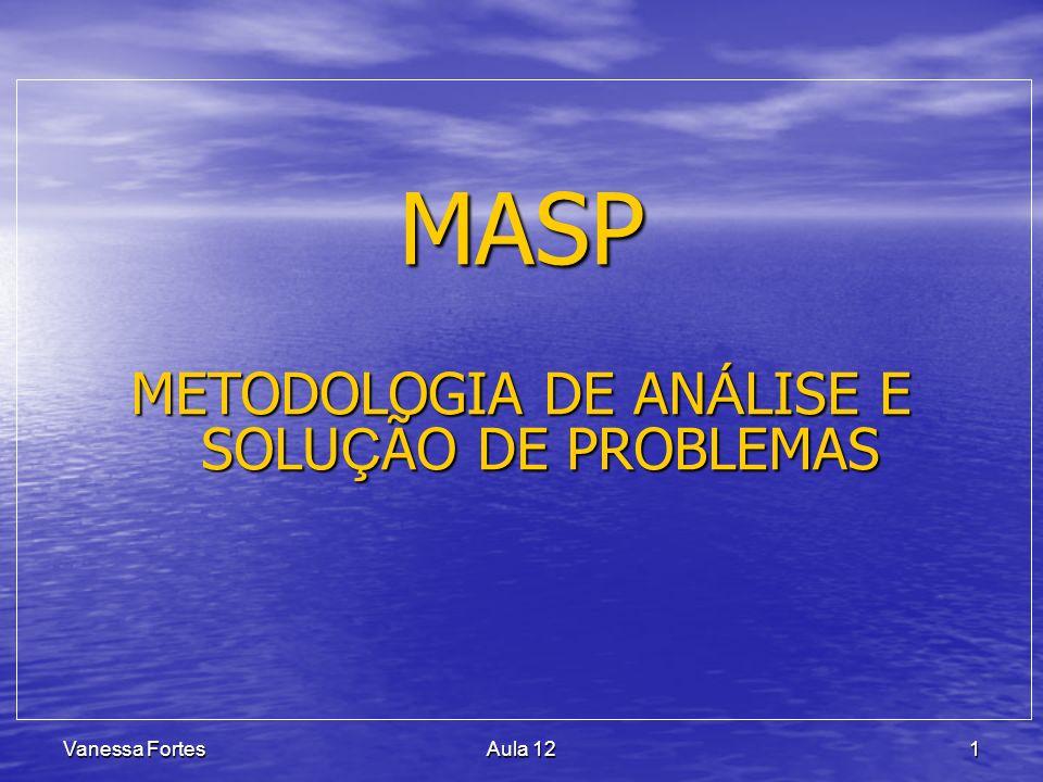 Vanessa FortesAula 121 MASP METODOLOGIA DE AN Á LISE E SOLU Ç ÃO DE PROBLEMAS