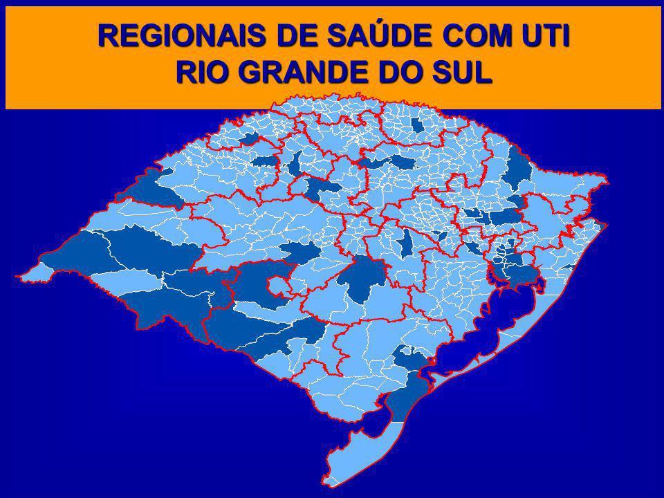 REGIONAIS DE SAÚDE COM UTI RIO GRANDE DO SUL