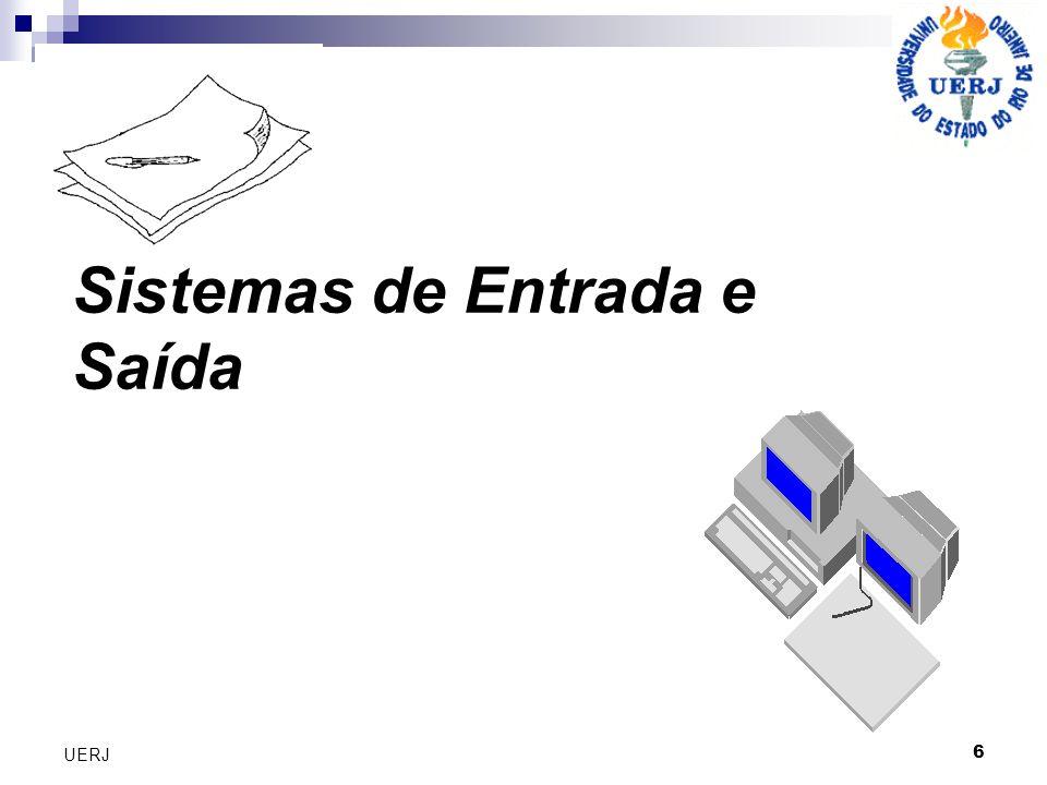 27 UERJ Sistemas de Controle de Processos Funcionamento Um PLC consiste basicamente em: uma unidade central de processamento – CPU; cartões de entradas e saída; IHM – Interface Homem Máquina.