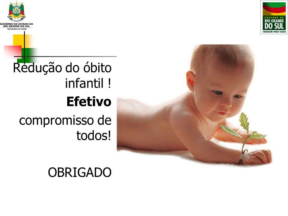 Redução do óbito infantil ! Efetivo compromisso de todos! OBRIGADO