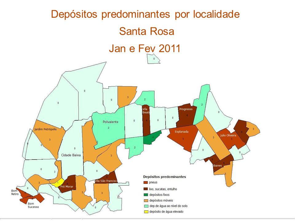 Depósitos predominantes por localidade Santa Rosa Jan e Fev 2011