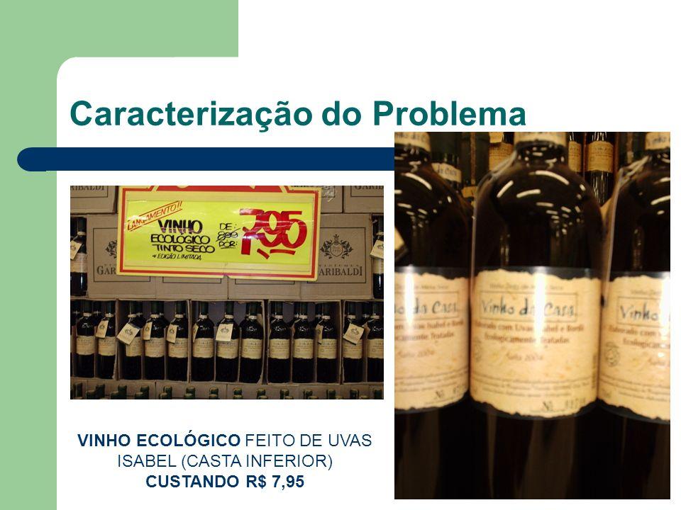 Caracterização do Problema VINHO ECOLÓGICO FEITO DE UVAS ISABEL (CASTA INFERIOR) CUSTANDO R$ 7,95