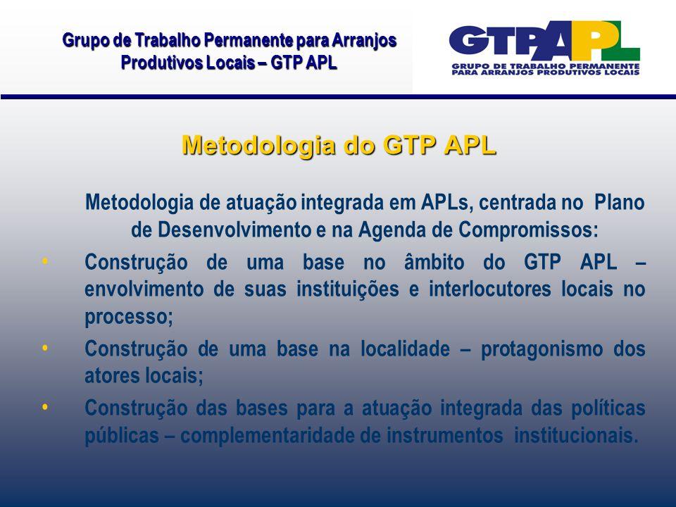 Metodologia de atuação integrada em APLs, centrada no Plano de Desenvolvimento e na Agenda de Compromissos: Construção de uma base no âmbito do GTP AP