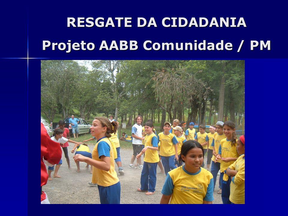 RESGATE DA CIDADANIA Projeto AABB Comunidade / PM