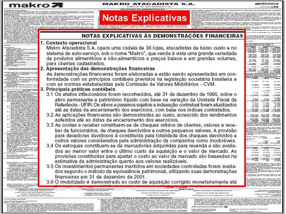 15/125 Engenharia de Produção – Custos Industriais – Prof. Dr. Ualison Rébula de Oliveira Notas Explicativas