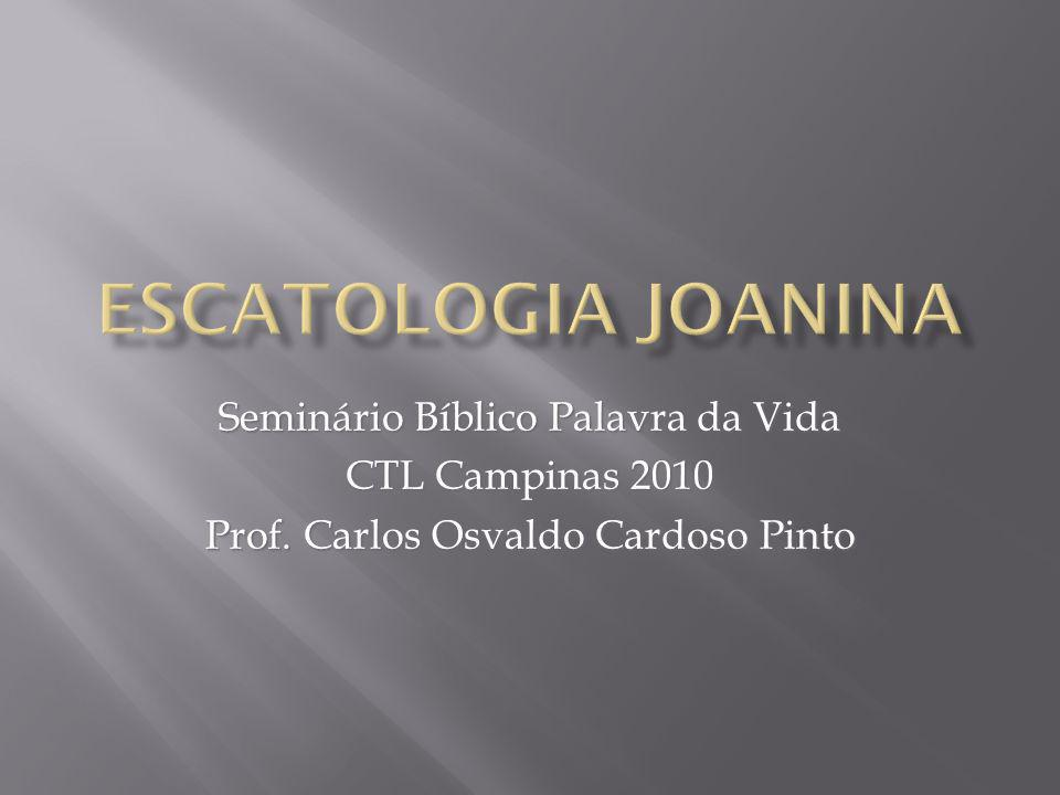 Seminário Bíblico Palavra da Vida CTL Campinas 2010 Prof. Carlos Osvaldo Cardoso Pinto