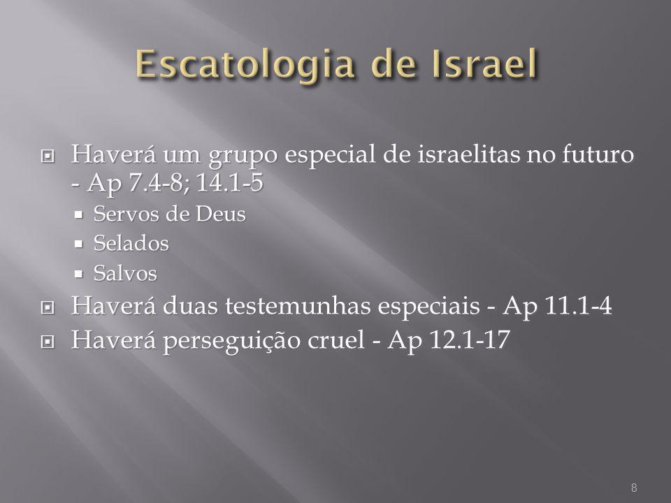 Haverá um grupo especial de israelitas no futuro - Ap 7.4-8; 14.1-5 Haverá um grupo especial de israelitas no futuro - Ap 7.4-8; 14.1-5 Servos de Deus