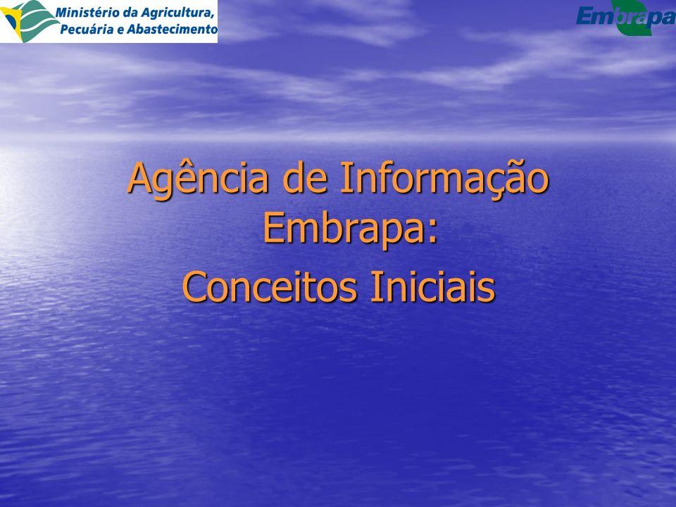 Agência de Informação Embrapa: Conceitos Iniciais