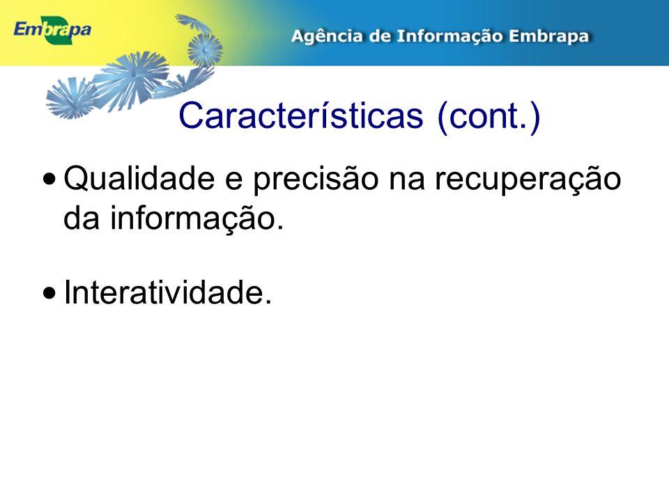 Parcerias Embrapa Informática Agropecuária.Embrapa Informação Tecnológica.