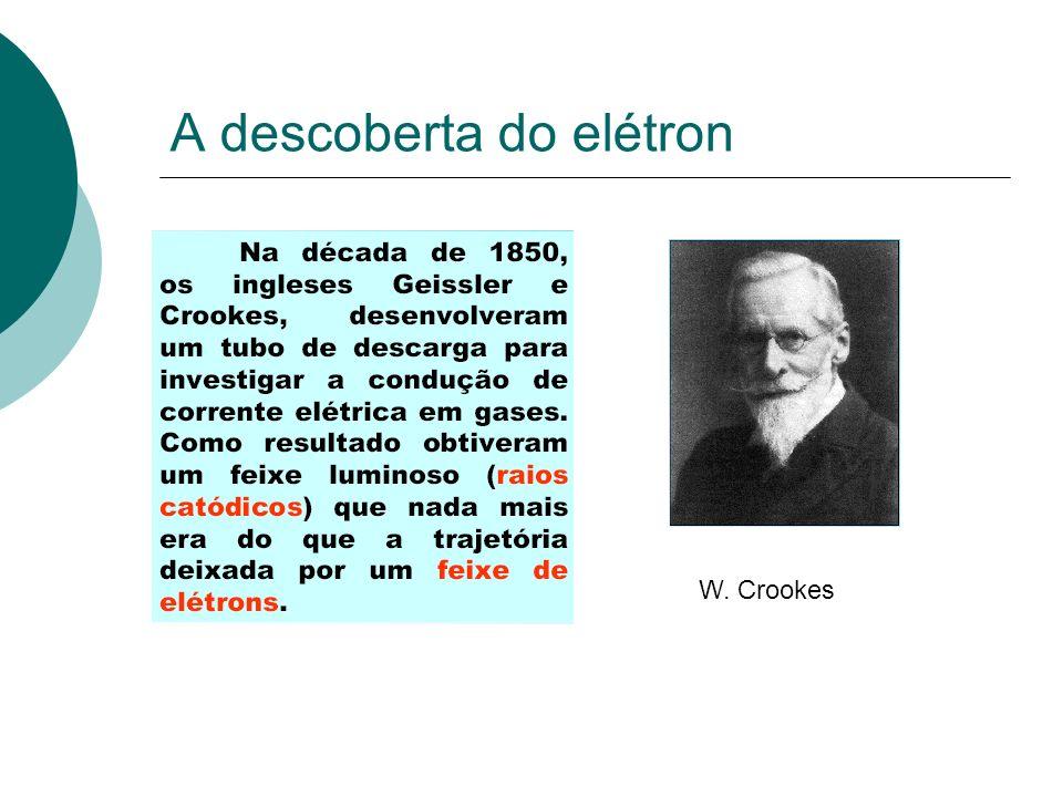 A descoberta do elétron W. Crookes