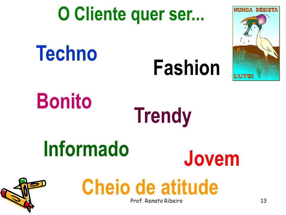 O Cliente quer ser...Jovem Fashion Bonito Trendy Techno Informado Cheio de atitude 13Prof.