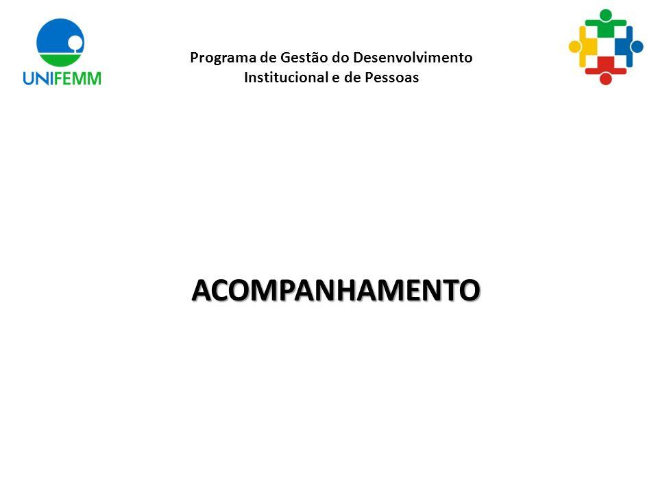 ACOMPANHAMENTO Programa de Gestão do Desenvolvimento Institucional e de Pessoas