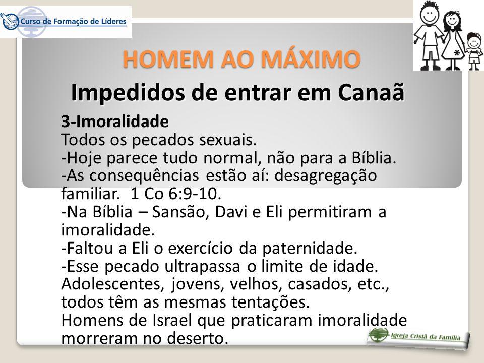 3-Imoralidade Todos os pecados sexuais. -Hoje parece tudo normal, não para a Bíblia. -As consequências estão aí: desagregação familiar. 1 Co 6:9-10. -
