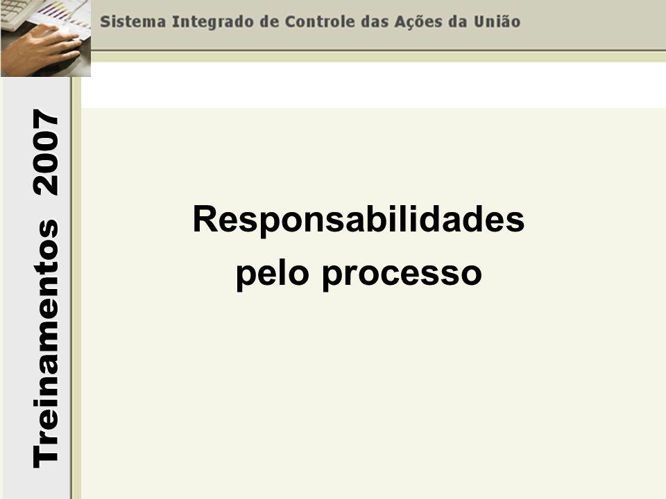 Treinamentos 2007 Responsabilidades pelo processo