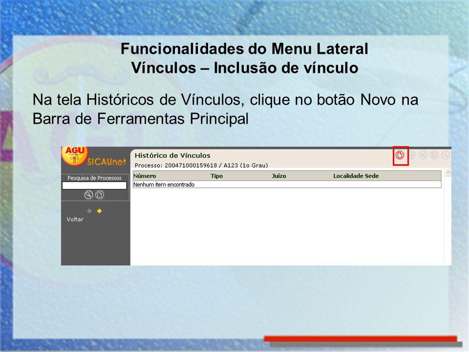 Funcionalidades do Menu Lateral Visualizar Extrato A funcionalidade Visualizar Extrato permite visualizar e imprimir o extrato do processo que está na tela.