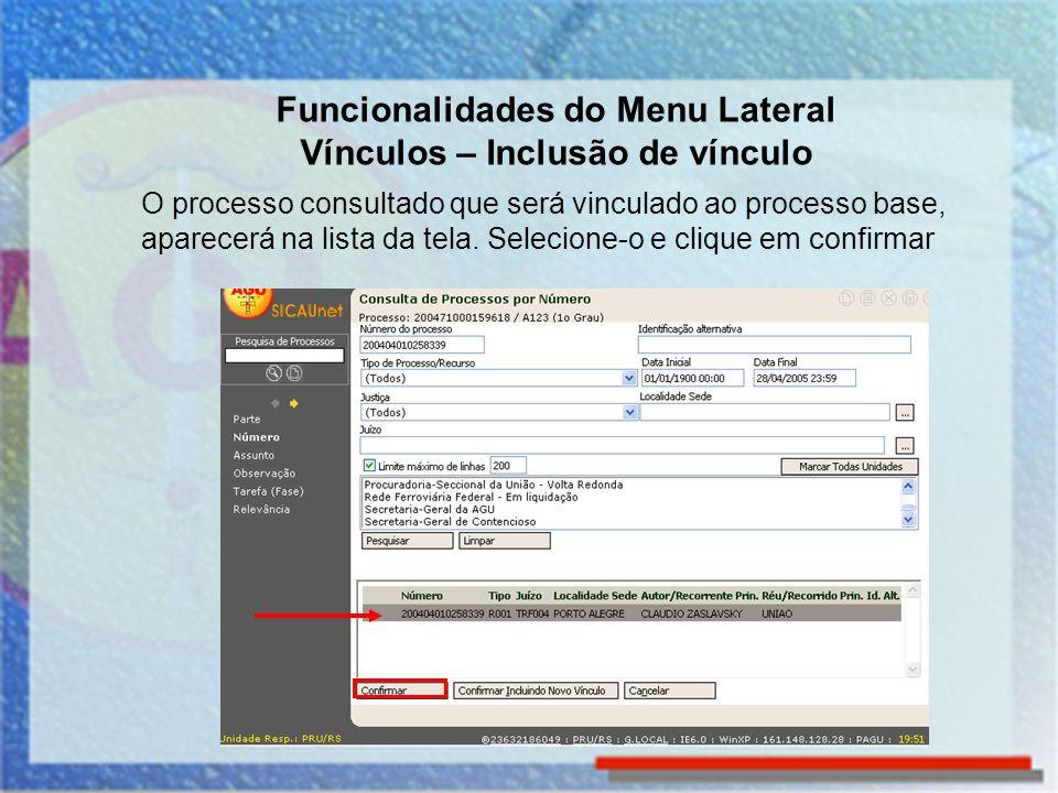 Funcionalidades do Menu Lateral Visualizar Etiqueta A funcionalidade Visualizar Etiqueta permite visualizar e imprimir a etiqueta do processo que está na tela.