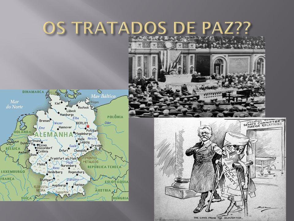 Principais pontos do Tratado de Versalhes: A região da Alsácia – Lorena é devolvida para a França; A Alemanha cedeu à França a exploração das minas de