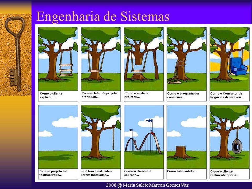 2008 @ Maria Salete Marcon Gomes Vaz Escrevendo requisitos Requisitos são geralmente escritos como textos em linguagem natural complementados por diagramas e equações Problemas com os requisitos –Uso de cláusulas condicionais complexas que podem confundir –Terminologia inconsistente –Os escritores assumem que os leitores possuem conhecimento do domínio