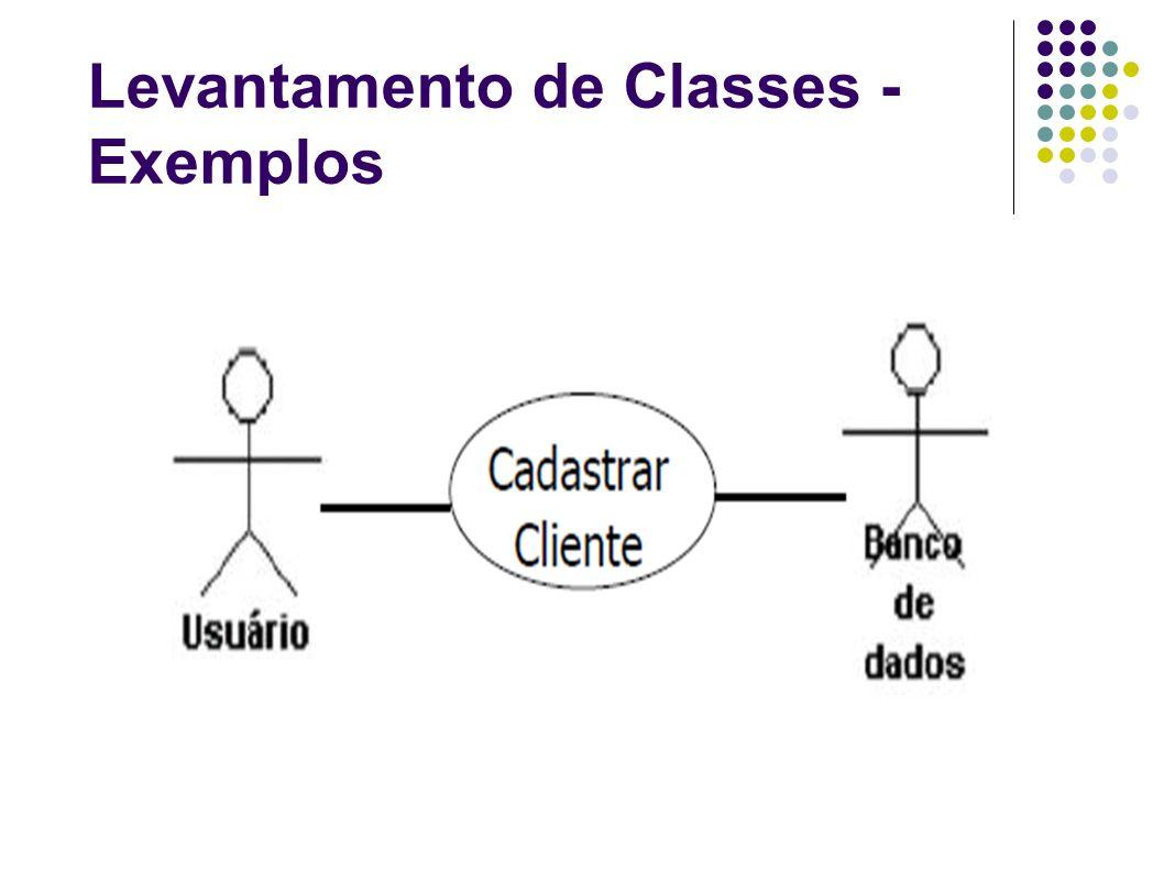 Levantamento de Classes - Exemplos