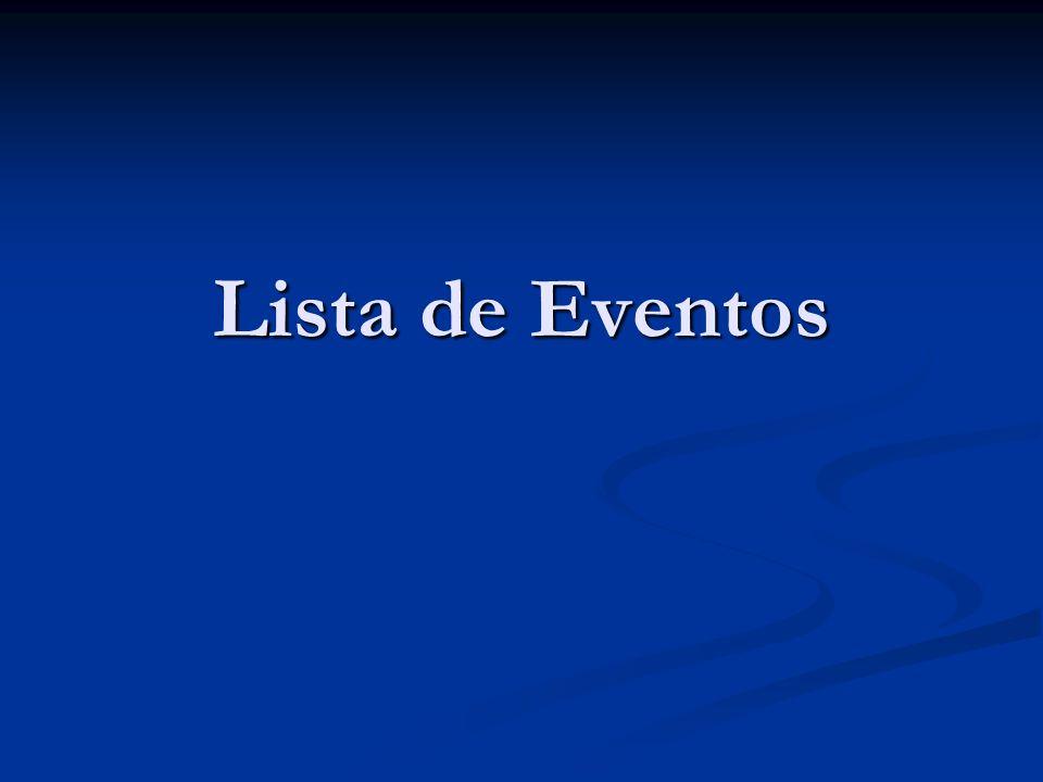 Lista de Eventos