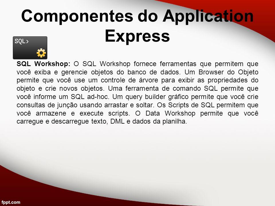 Componentes do Application Express Team Development: O Team Development ajuda a gerenciar o ciclo de vida do desenvolvimento de uma aplicação.