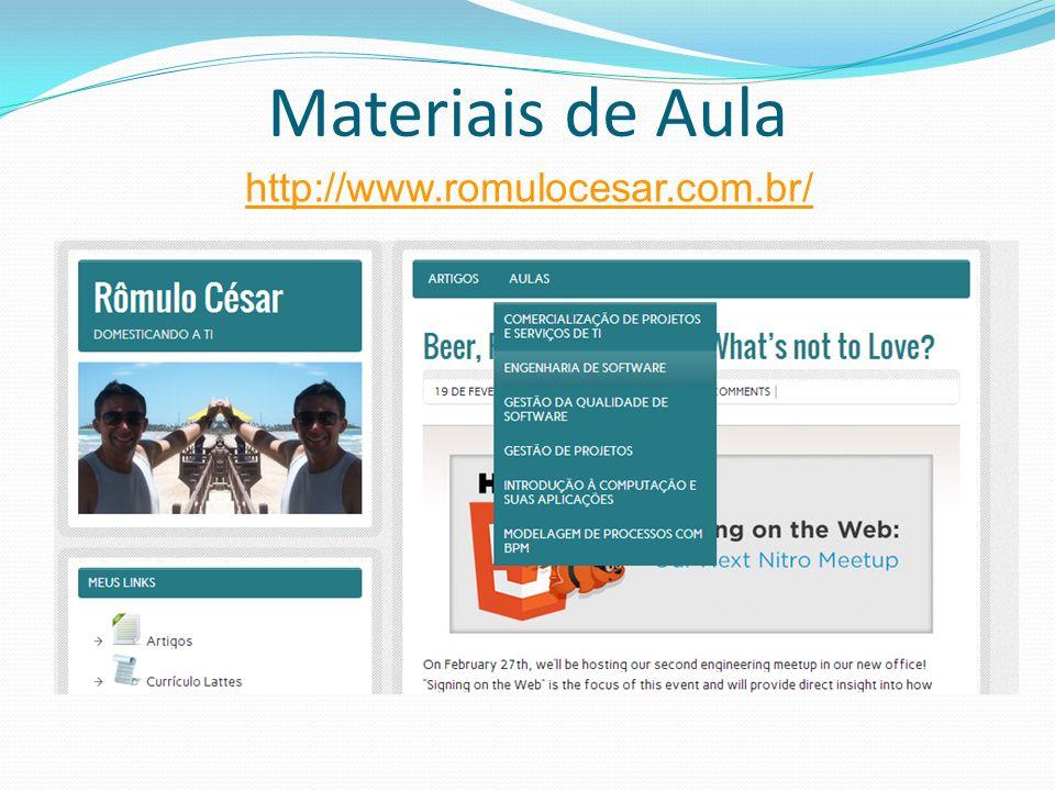 Materiais de Aula http://www.romulocesar.com.br/