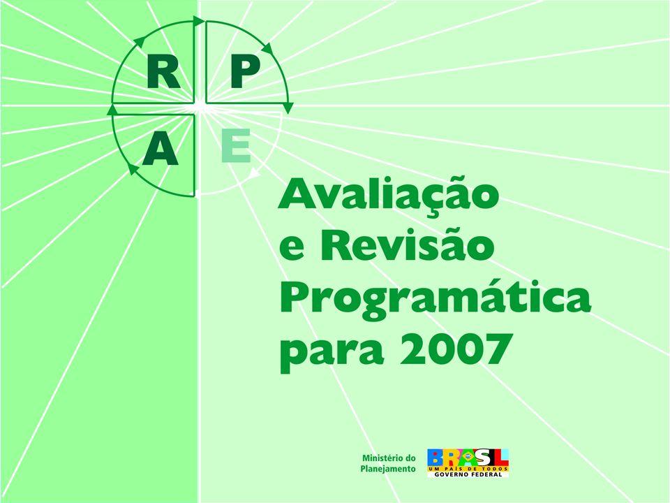 2 Promover o aperfeiçoamento contínuo dos programas de governo por meio da avaliação e da revisão programática visando a elaboração do PLRPPA e do PLOA 2007 Objetivo