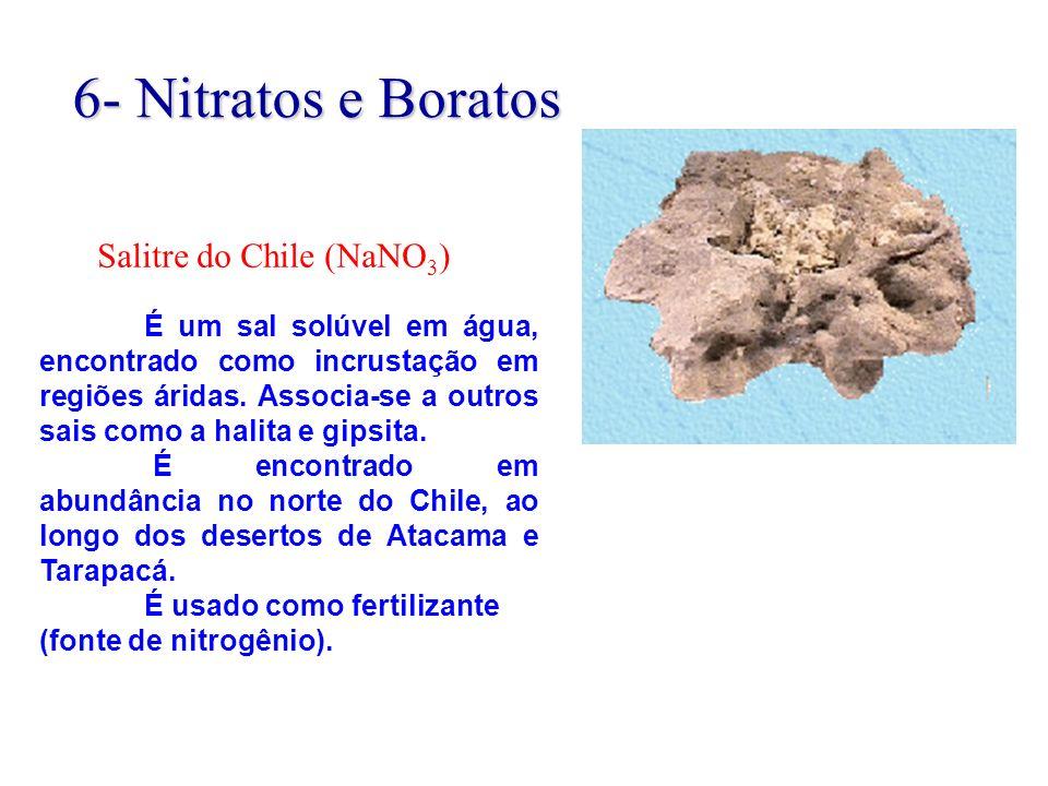 É um sal solúvel em água, encontrado como incrustação em regiões áridas. Associa-se a outros sais como a halita e gipsita. É encontrado em abundância
