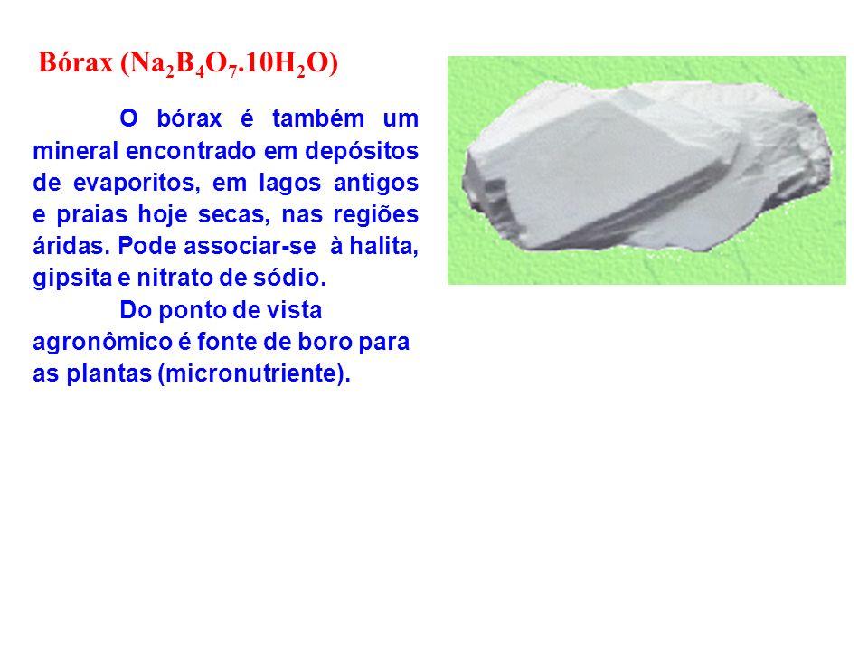 O bórax é também um mineral encontrado em depósitos de evaporitos, em lagos antigos e praias hoje secas, nas regiões áridas. Pode associar-se à halita