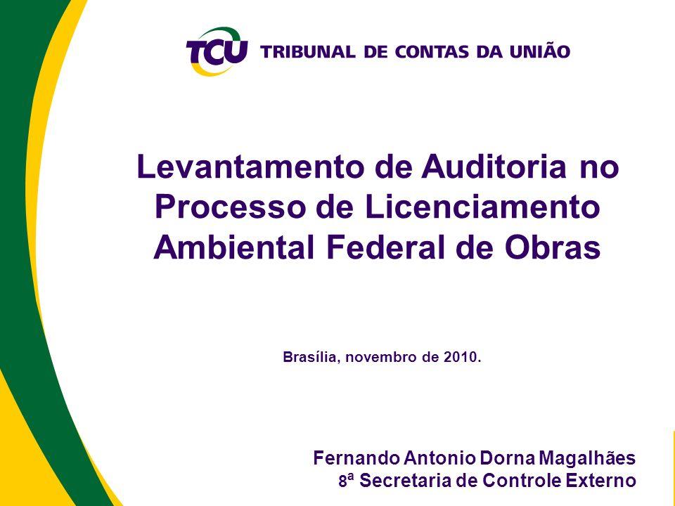 Levantamento de Auditoria no Processo de Licenciamento Ambiental Federal de Obras Brasília, novembro de 2010. Fernando Antonio Dorna Magalhães 8 ª Sec