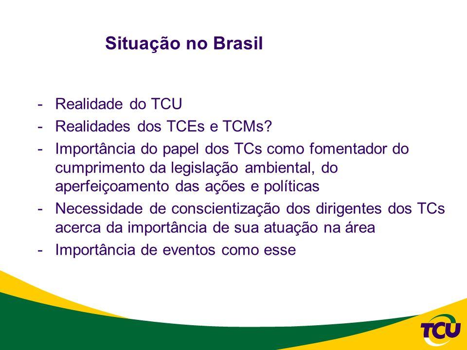 -Controle centralizado x descentralizado -Caso TCU: modelo misto, mas desestruturado.Obras Públicas – Secretarias de Obras.