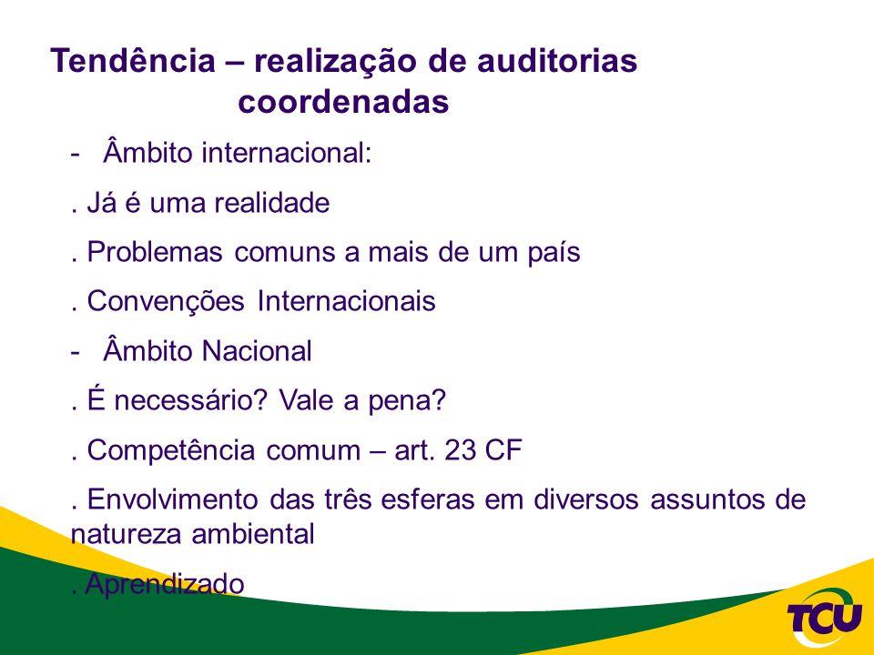Dificuldades para a realização de auditorias coordenadas -Natureza cultural/institucional -Natureza operacional -De coordenação dos trabalhos * Experiência do Promoex?